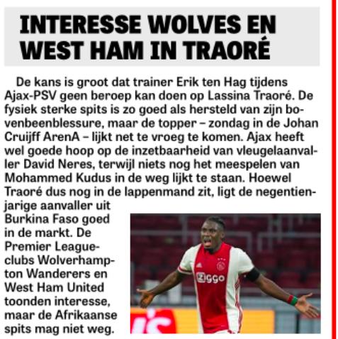 Sebastien Haller subject of Ajax bid with West Ham wanting £25 million for striker