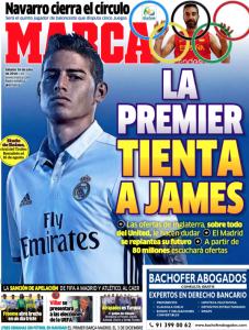 James Rodriguez Marca July 16th