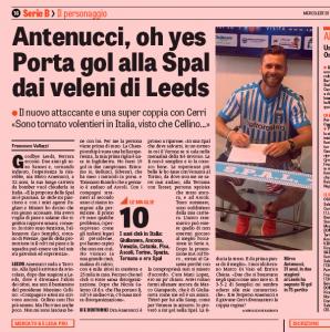 Mirco Antenucci Gazzetta dello Sport July 20th