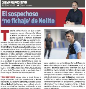 Nolito Sport August 1st