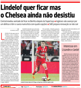 Victor Lindelof A Bola August 9th