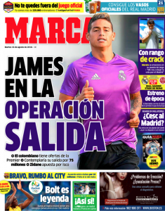 James rodriguez Marca August 16th