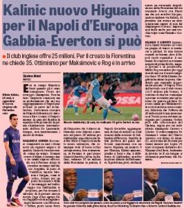 Manolo Gabbiadini August 26th Gazzetta dello Sport