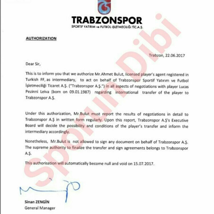 Letter Of Authorization To Negotiate from sportwitness.co.uk
